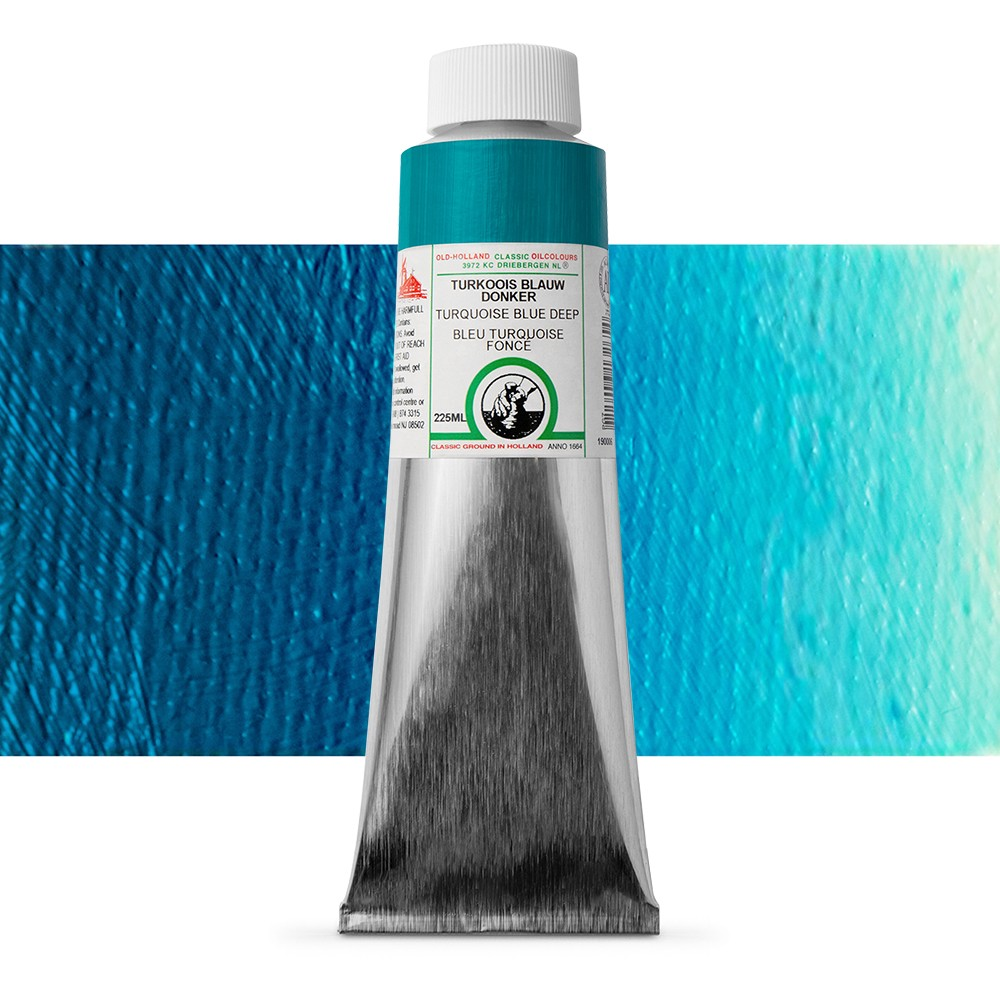 Old Holland : Classic Oil : 225ml Turquoise Blue Deep