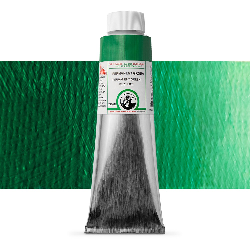 Old Holland : Classic Oil : 225ml Permanent Green