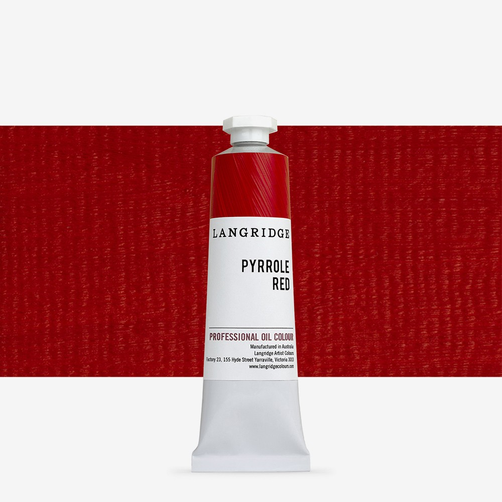 Langridge : Oil Paint : 40ml : Pyrrole Red