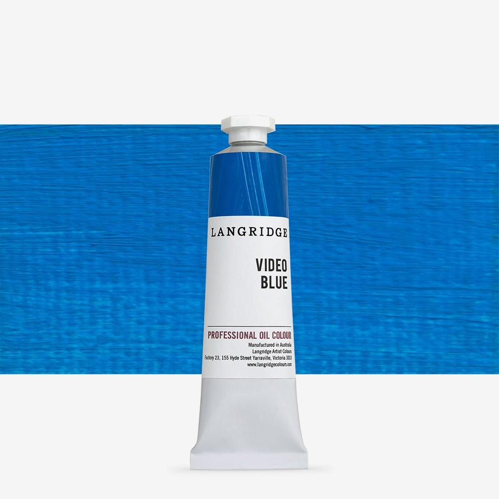 Langridge : Oil Paint : 40ml : Video Blue
