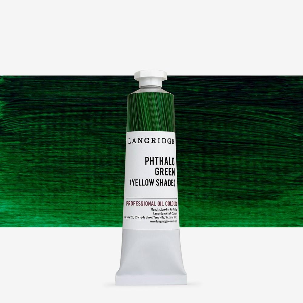 Langridge : Oil Paint : 40ml : Phthalo Green (Yellow Shade)