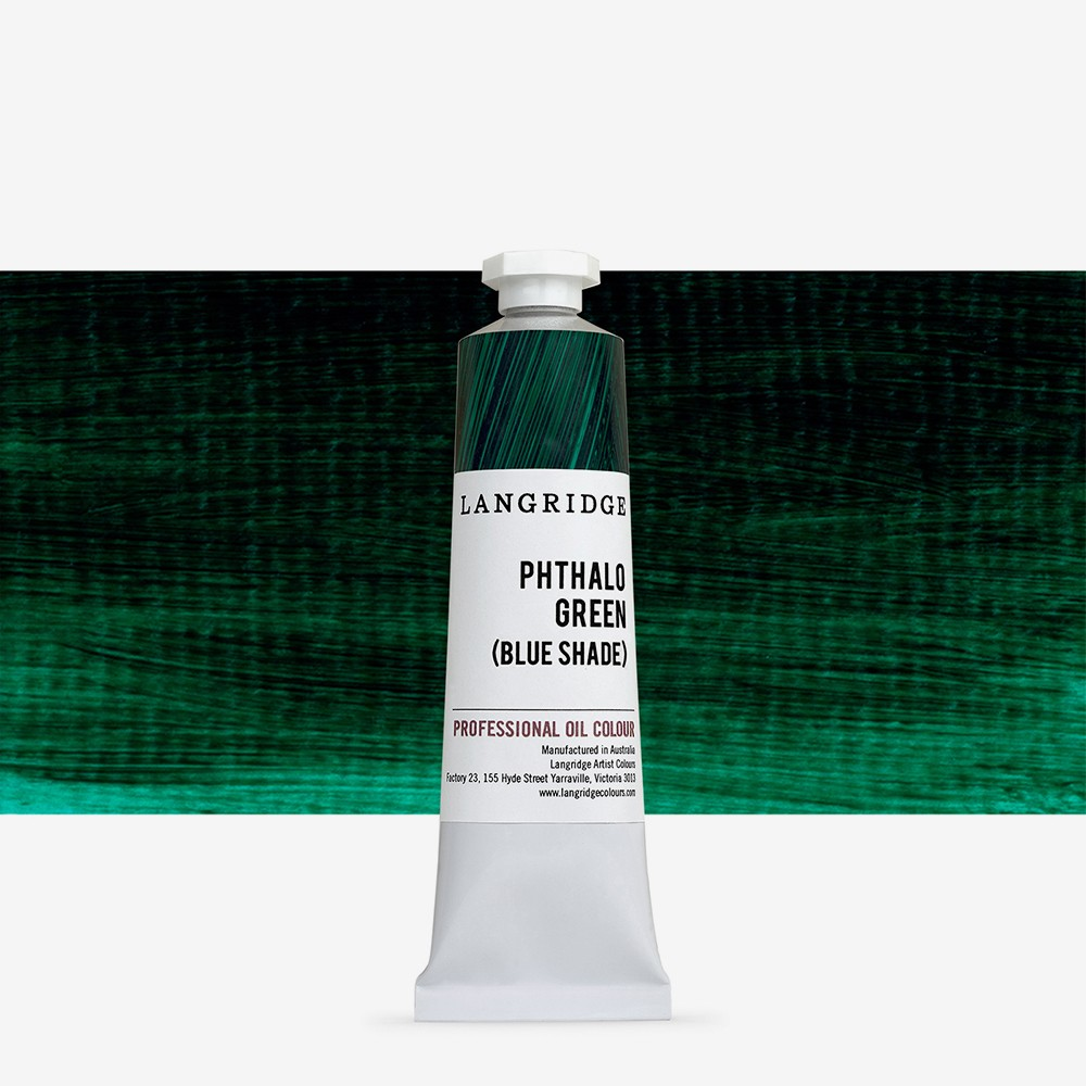 Langridge : Oil Paint : 40ml : Phthalo Green