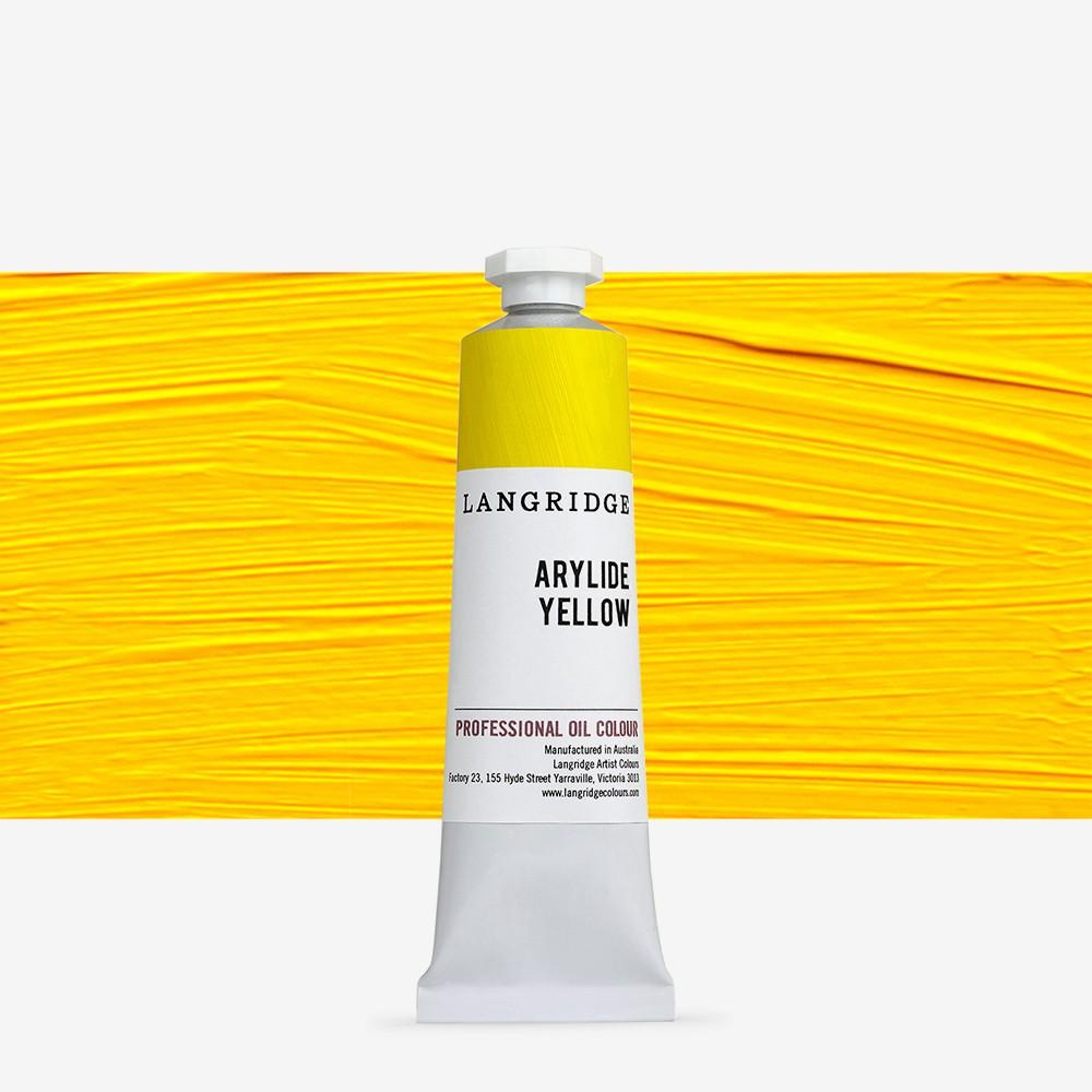Langridge : Oil Paint : 40ml : Arylide Yellow