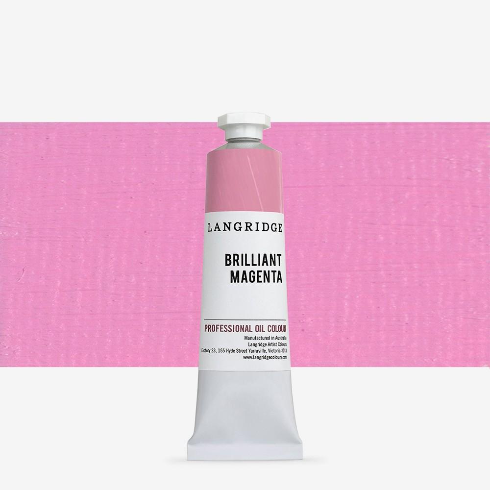 Langridge : Oil Paint : 40ml : Brilliant Magenta