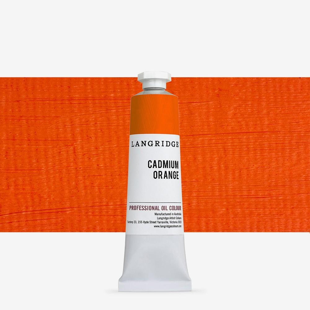 Langridge : Oil Paint : 40ml : Cadmium Orange
