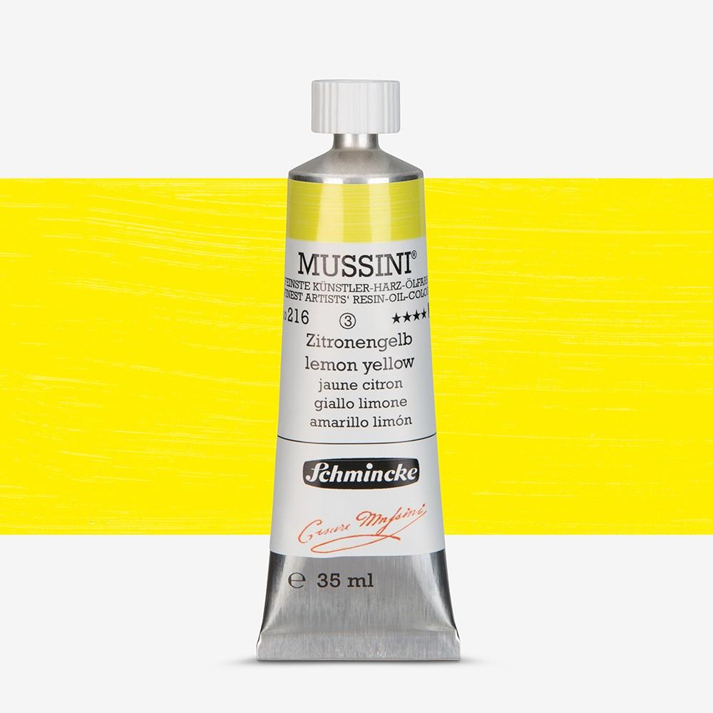 Schmincke : Mussini Oil Paint : 35ml : Lemon Yellow
