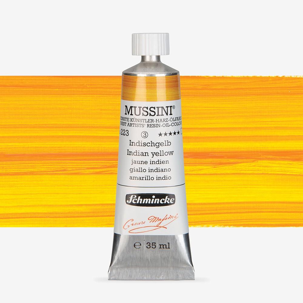 Schmincke : Mussini Oil Paint : 35ml : Indian Yellow