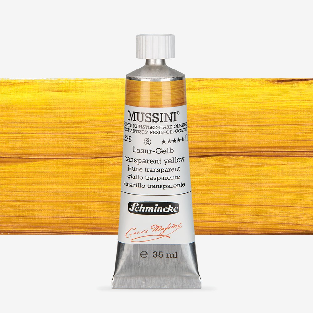 Schmincke : Mussini Oil Paint : 35ml : Translucent Yellow