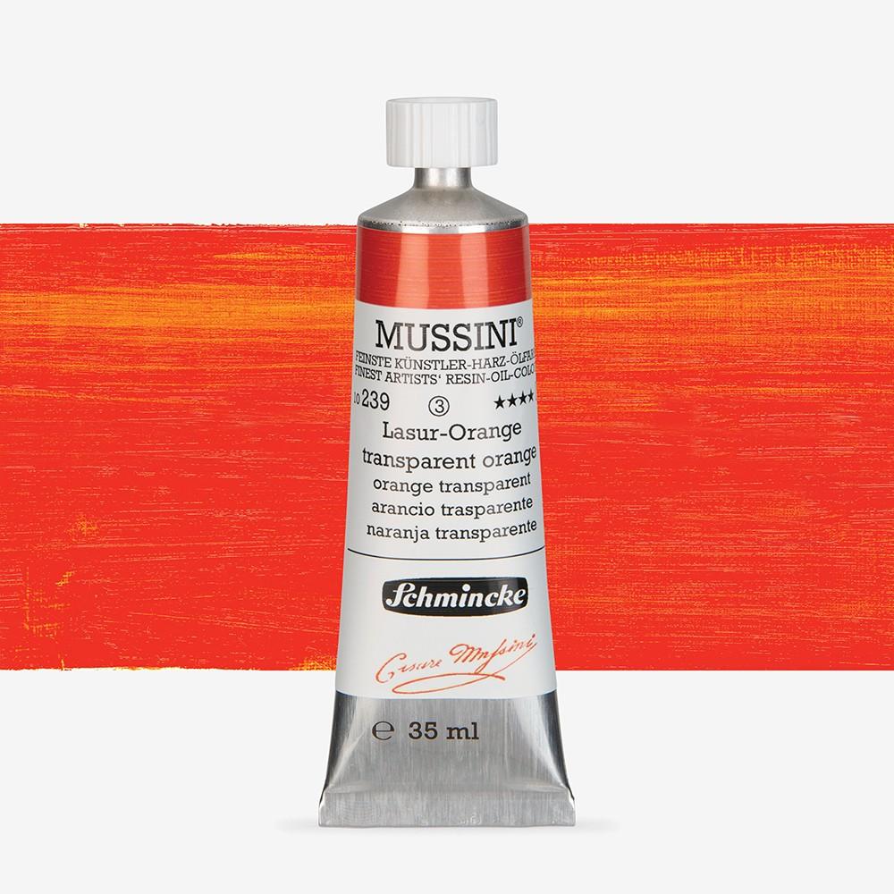 Schmincke : Mussini Oil Paint : 35ml : Translucent Orange