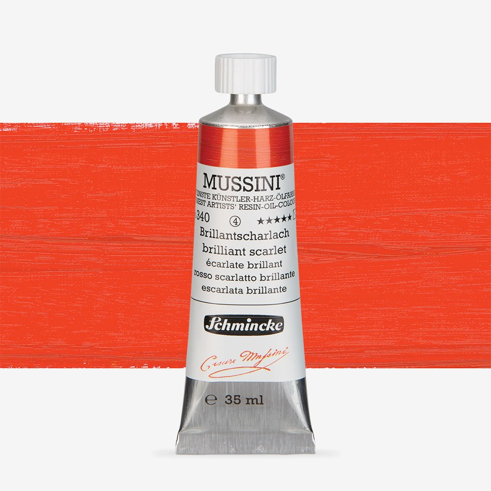 Schmincke : Mussini Oil Paint : 35ml : Brilliant Scarlet