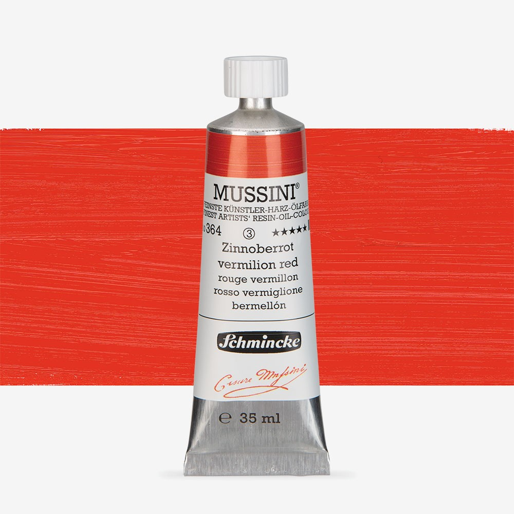 Schmincke : Mussini Oil Paint : 35ml : Vermilion Red Tone