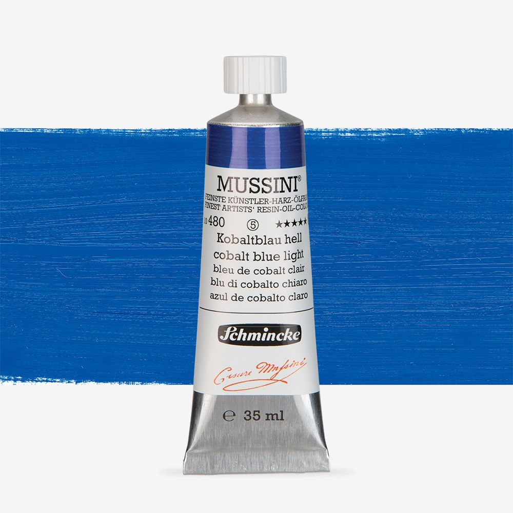 Schmincke : Mussini Oil Paint : 35ml : Cobalt Blue Light