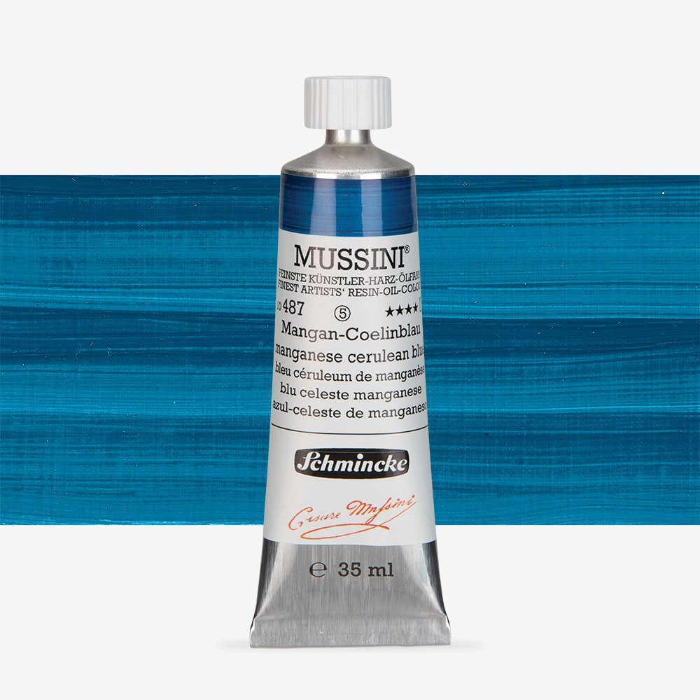 Schmincke : Mussini Oil Paint : 35ml : Manganese Cerulean Blue