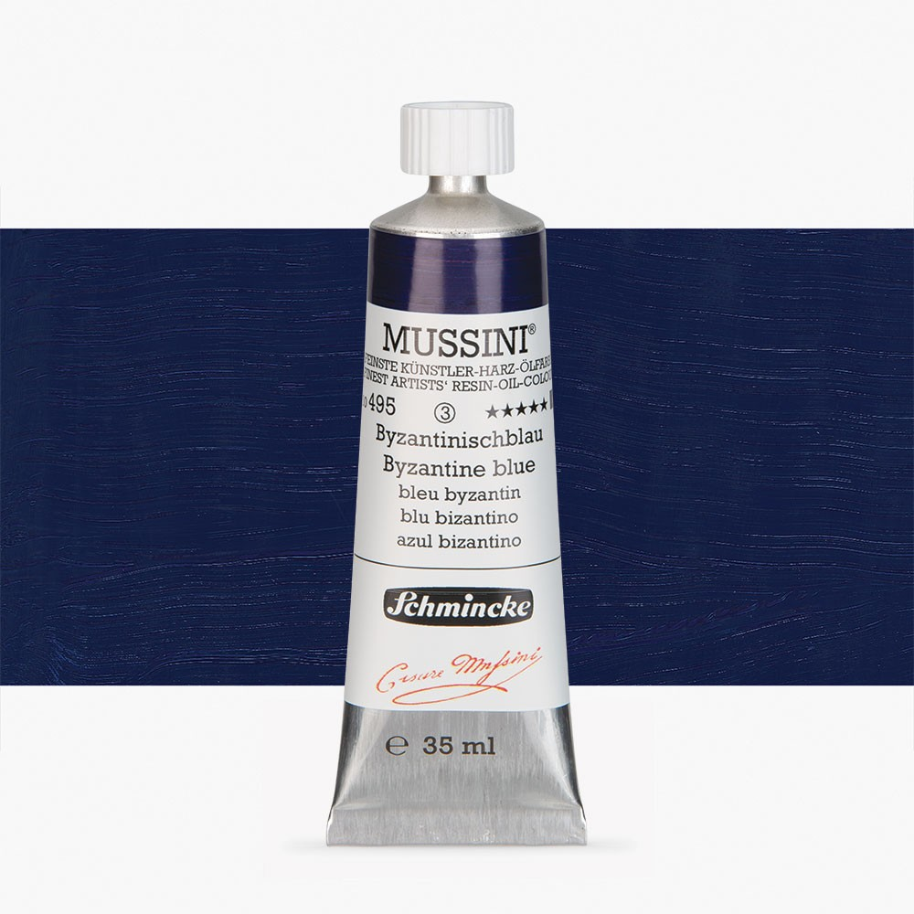 Schmincke : Mussini Oil Paint : 35ml : Byzanthine Blue