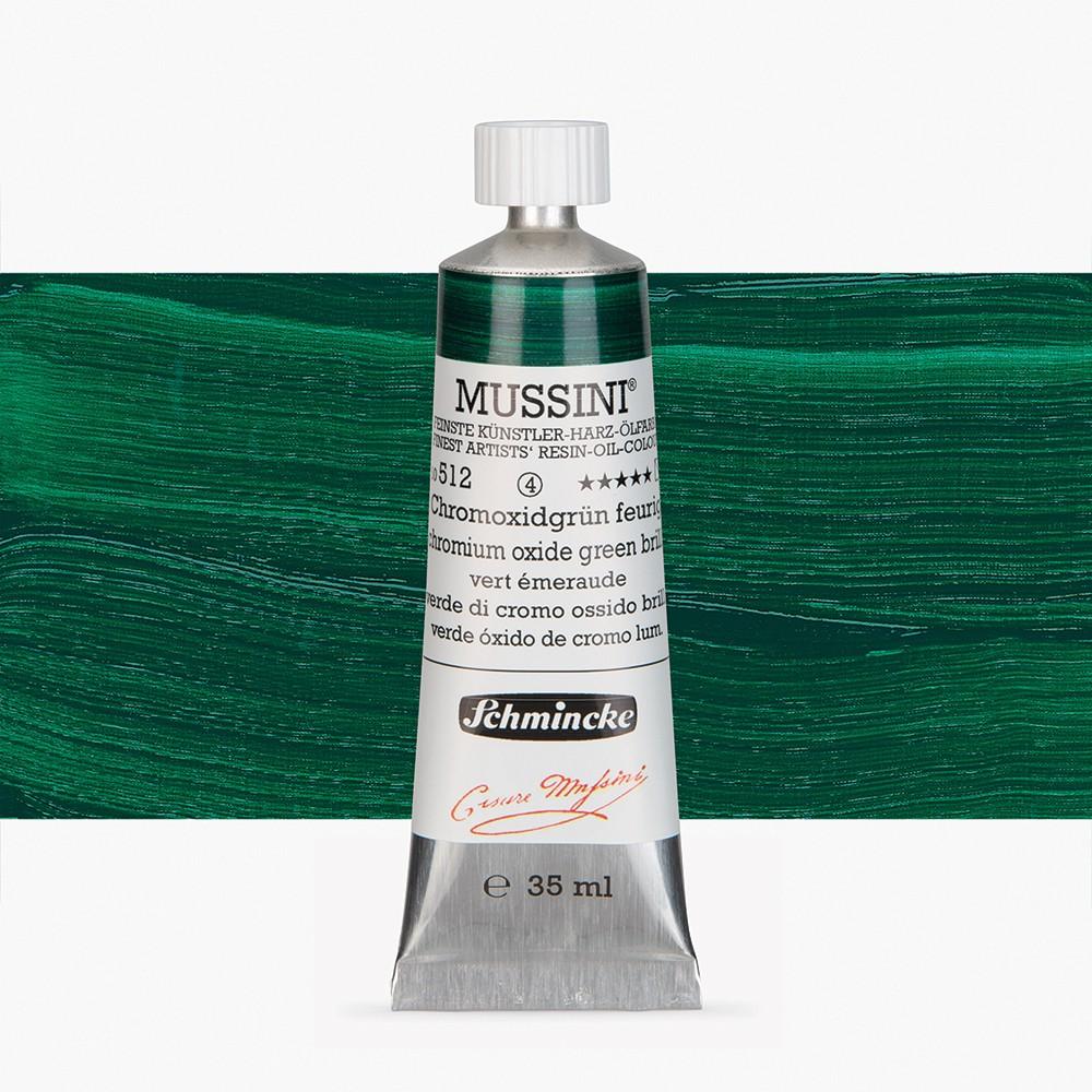 Schmincke : Mussini Oil Paint : 35ml : Chrome Green Oxide Brilliant