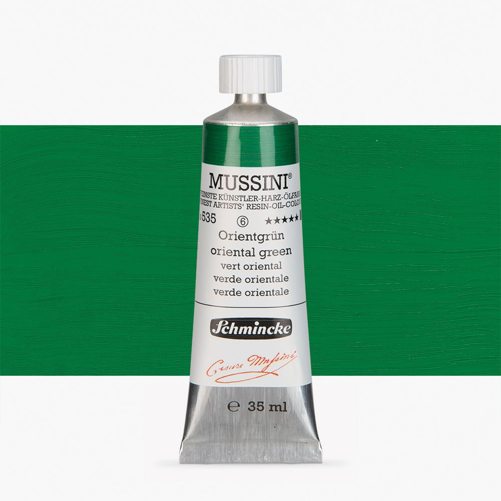 Schmincke : Mussini Oil Paint : 35ml : Oriental Green