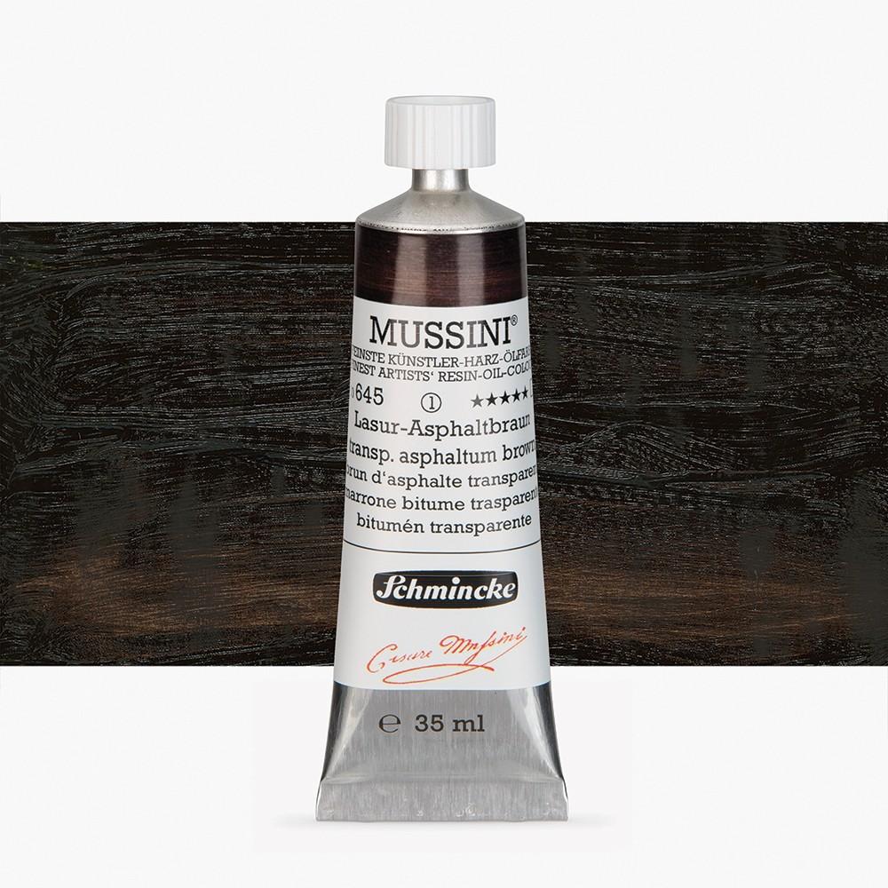 Schmincke : Mussini Oil Paint : 35ml : Asphaltum Black Translucent
