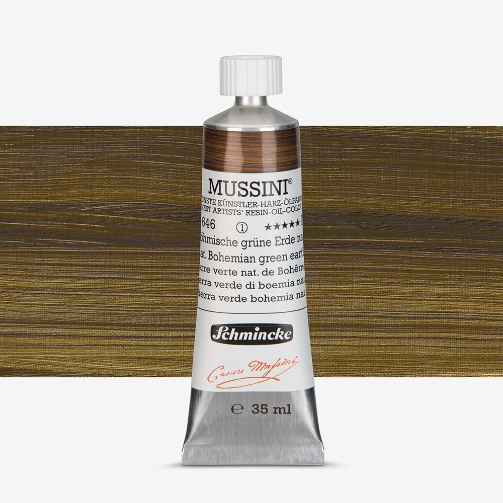 Schmincke : Mussini Oil Paint : 35ml : Natural Bohemian Green Earth
