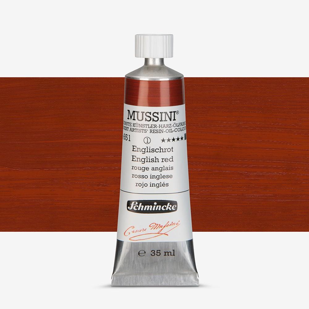 Schmincke : Mussini Oil Paint : 35ml : English Red
