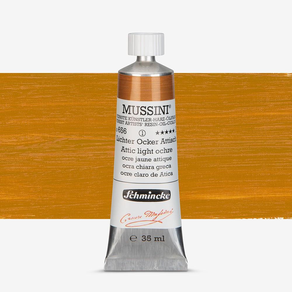 Schmincke : Mussini Oil Paint : 35ml : Attish Light Ochre