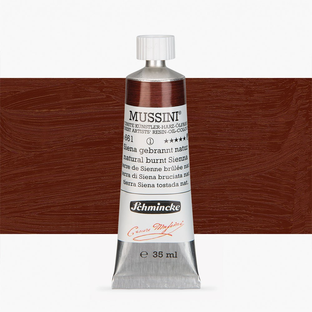 Schmincke : Mussini Oil Paint : 35ml : Natural Burnt Sienna
