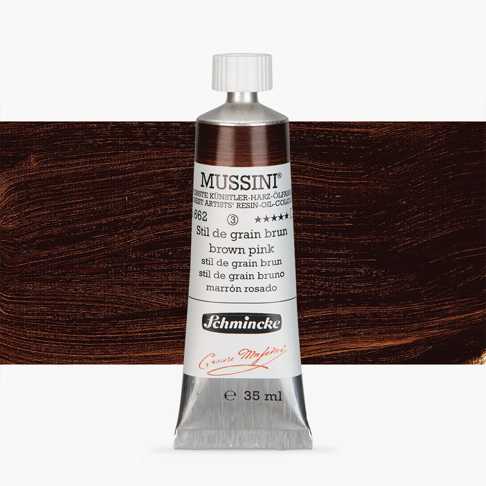 Schmincke : Mussini Oil Paint : 35ml : Brown Pink