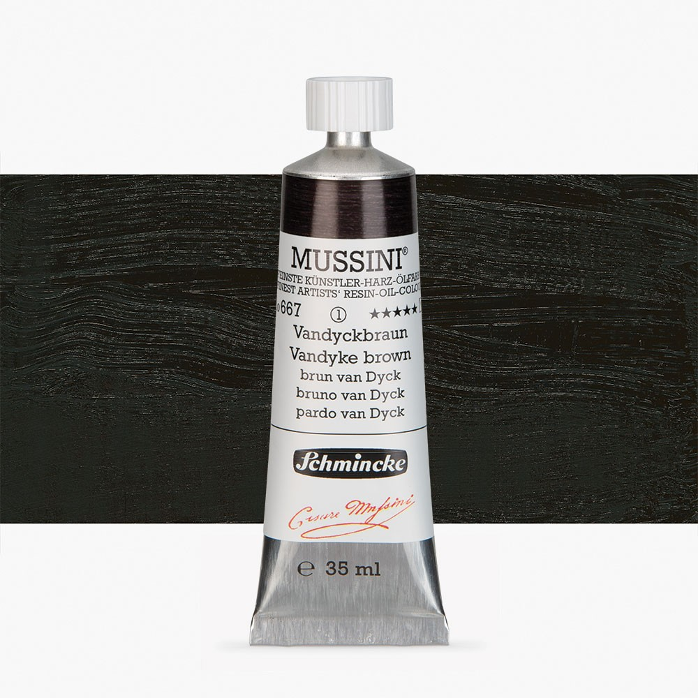 Schmincke : Mussini Oil Paint : 35ml : Vandyke Brown