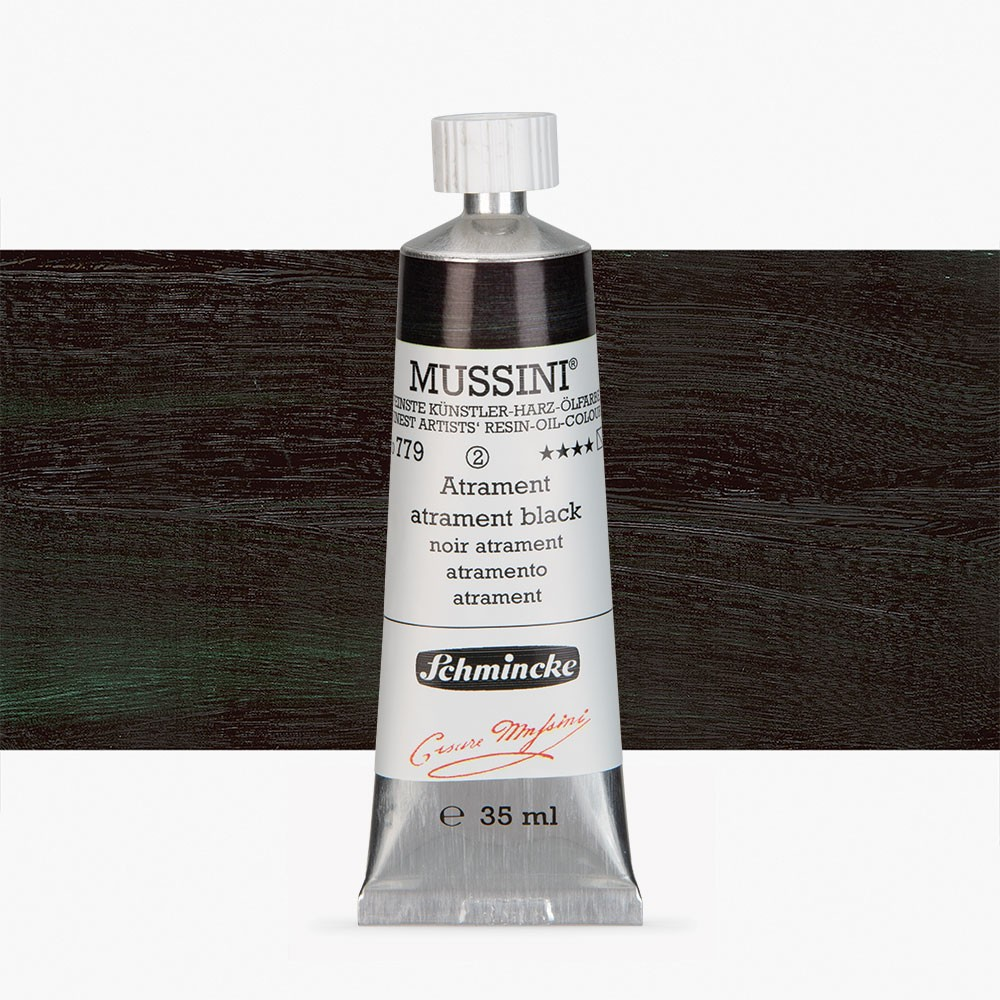 Schmincke : Mussini Oil Paint : 35ml : Atrament Black