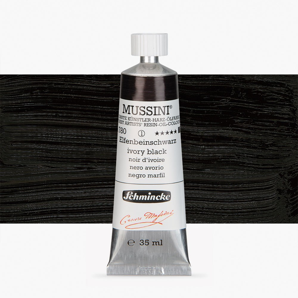 Schmincke : Mussini Oil Paint : 35ml : Ivory Black