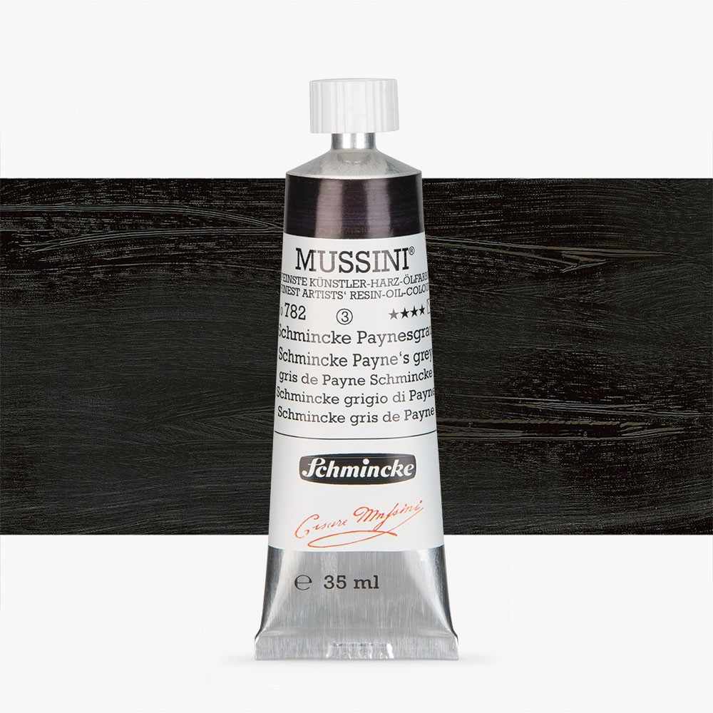 Schmincke : Mussini Oil Paint : 35ml : Schmincke Paynes Grey