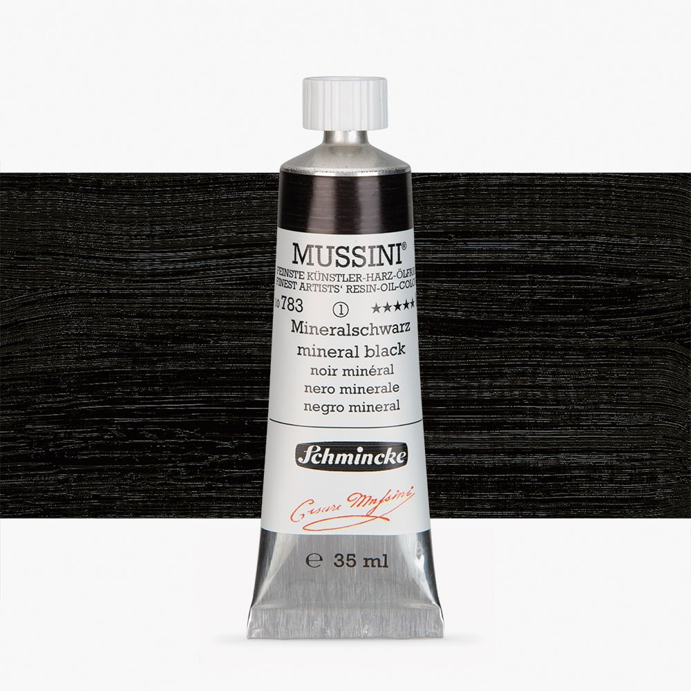 Schmincke : Mussini Oil Paint : 35ml : Mineral Black