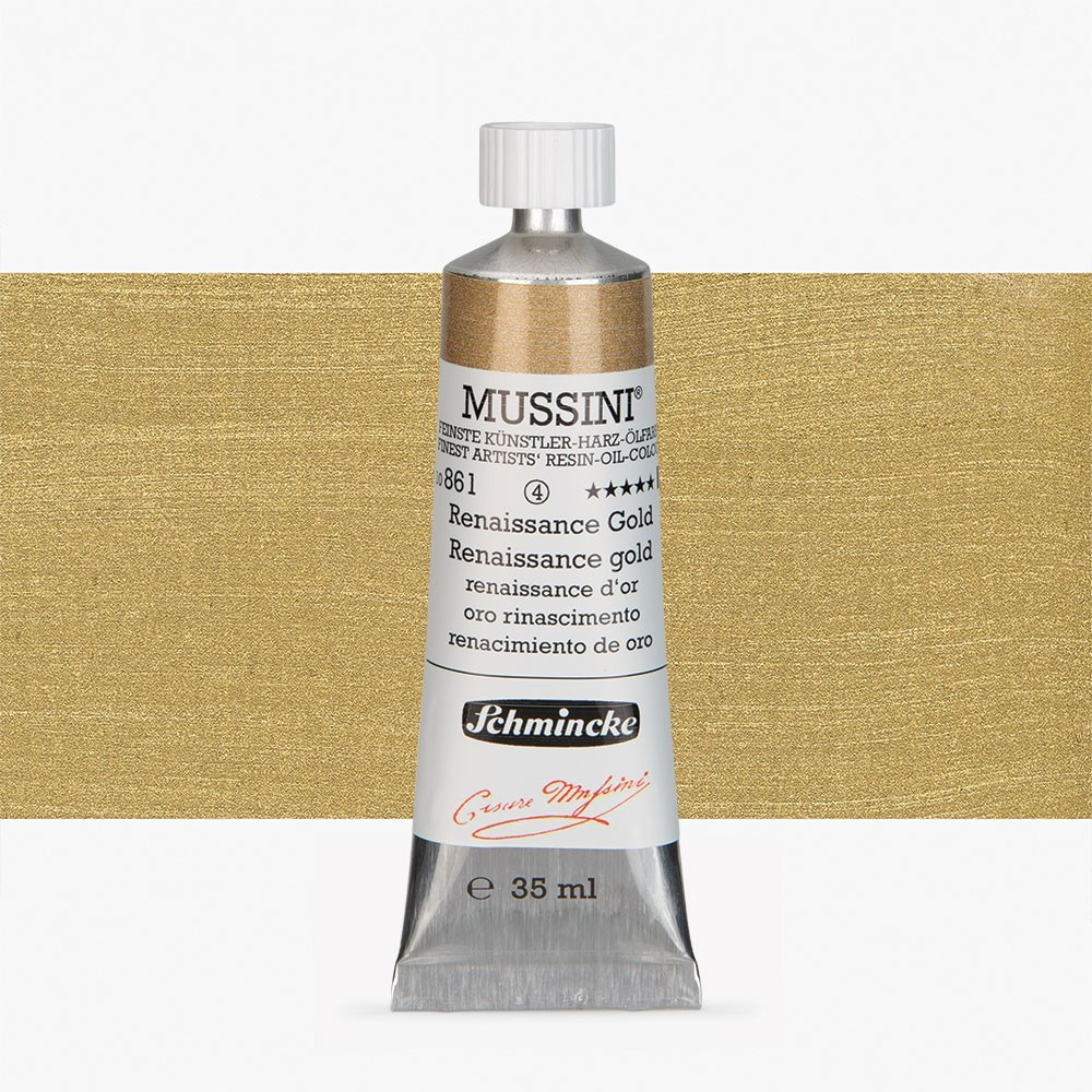 Schmincke : Mussini Oil Paint : 35ml : Renaissance Gold