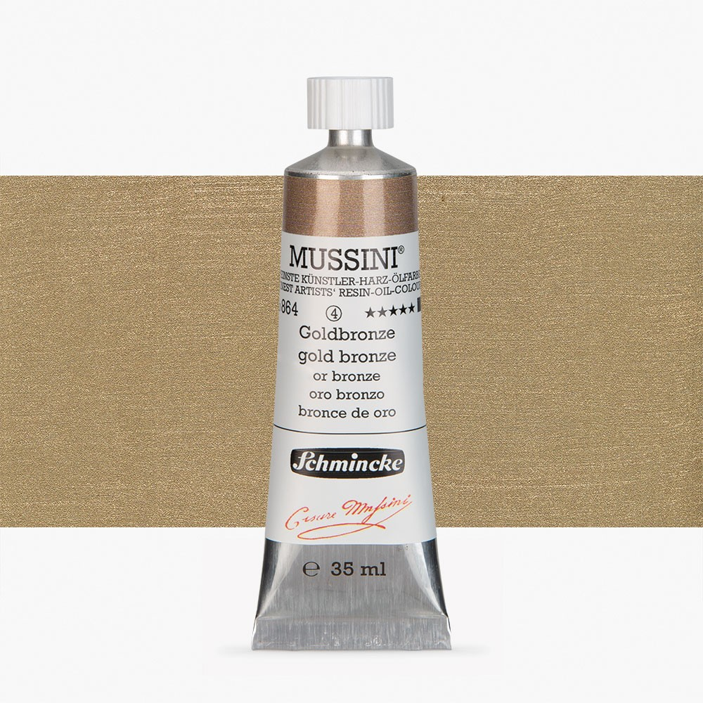 Schmincke : Mussini Oil Paint : 35ml : Gold Bronze