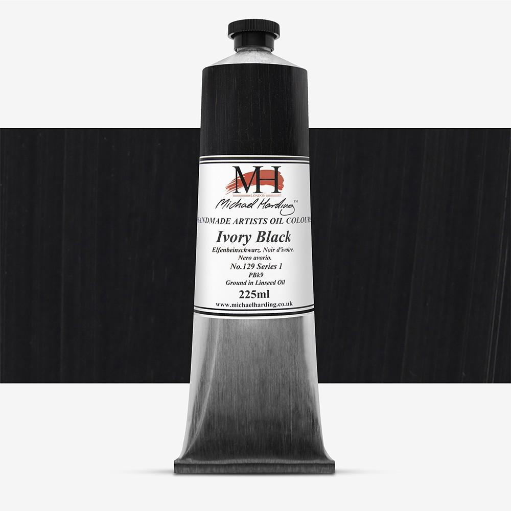 Michael Harding : Oil Paint : 225ml : Ivory Black