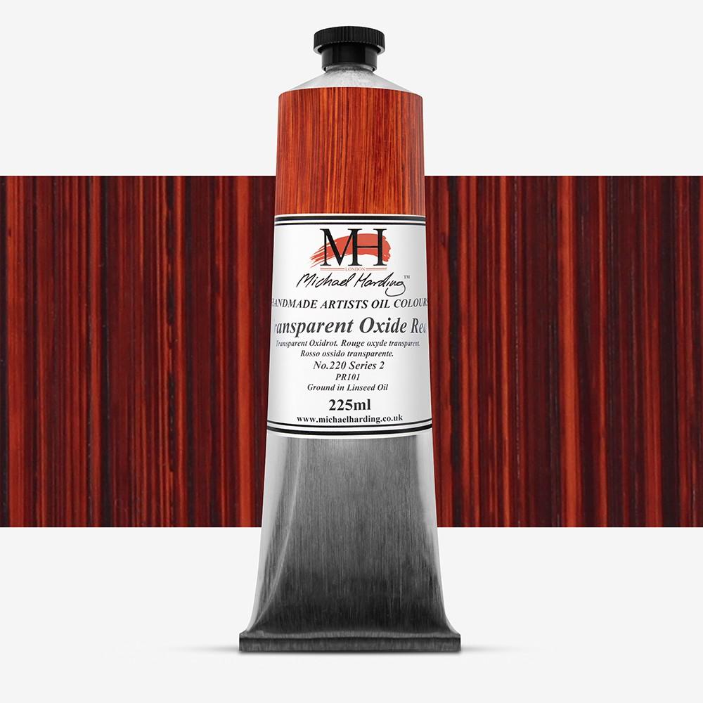 Michael Harding : Oil Paint : 225ml : Transparent Oxide Red