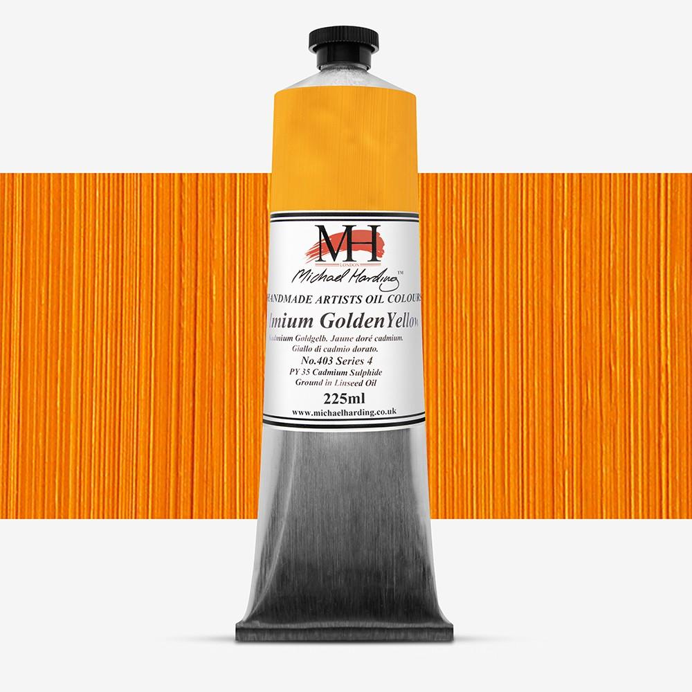 Michael Harding : Oil Paint : 225ml : Cadmium Golden Yellow