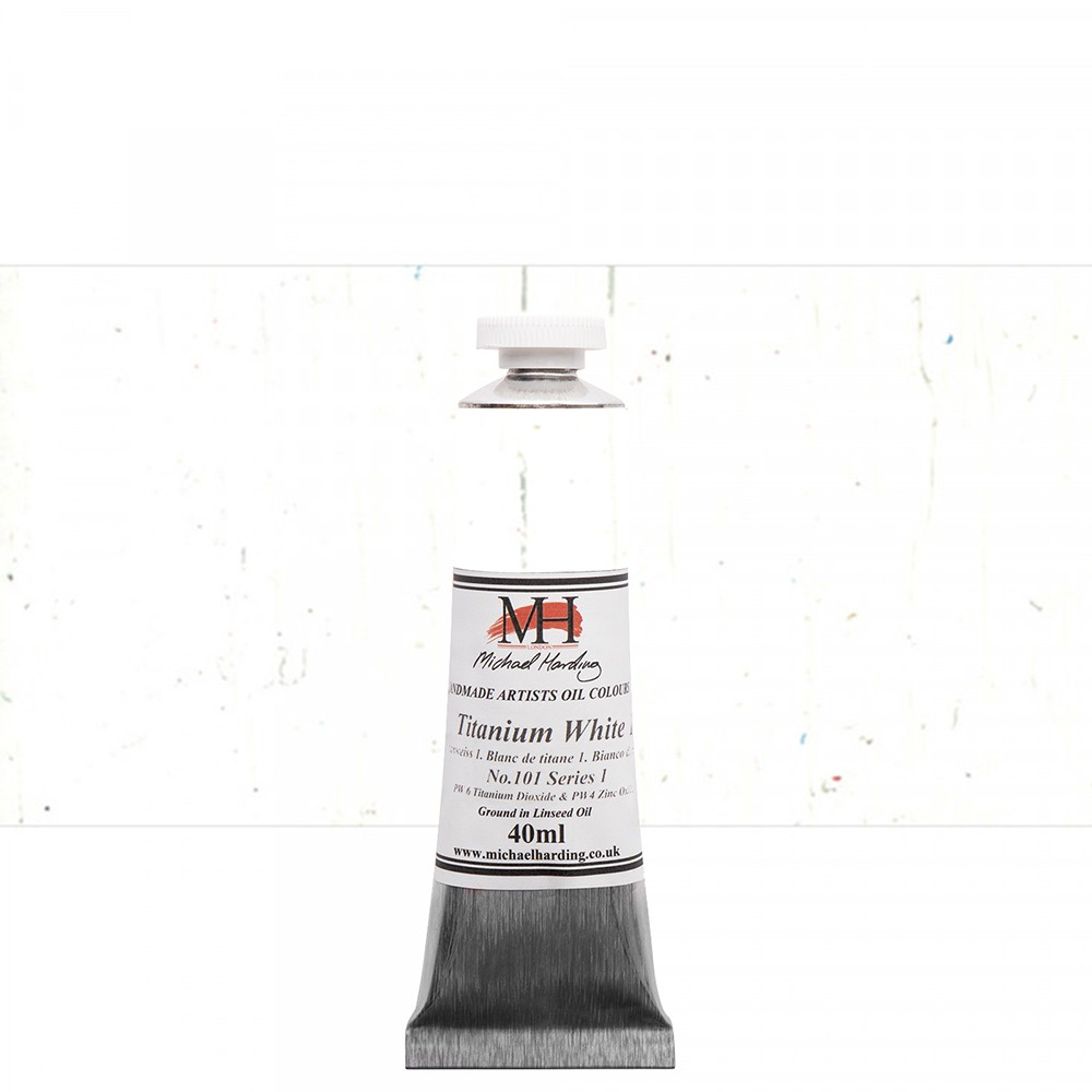 Michael Harding : Oil Paint : 40ml : Titanium White 1 with Safflower Oil
