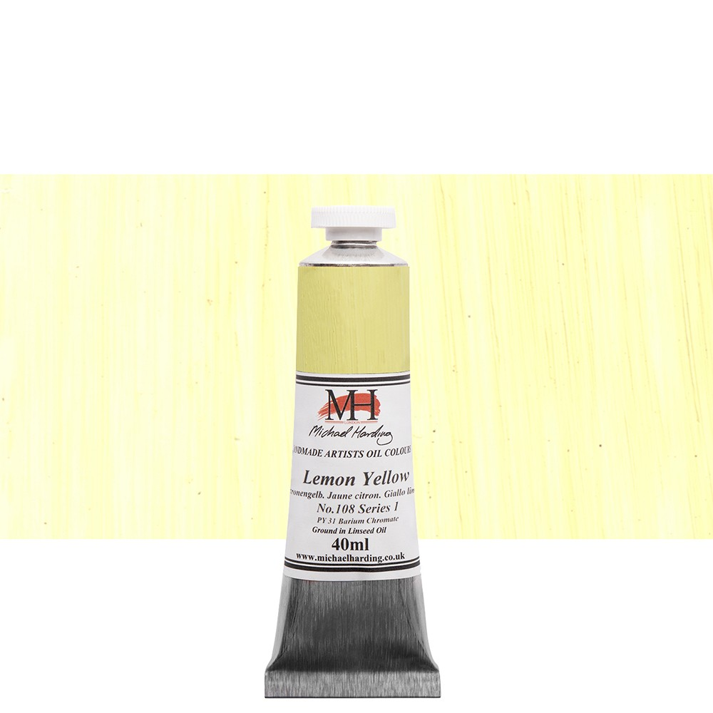 Michael Harding : Oil Paint : 40ml : Lemon Yellow