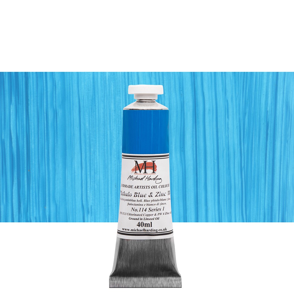 Michael Harding : Oil Paint : 40ml : Phthalo Blue & Zinc