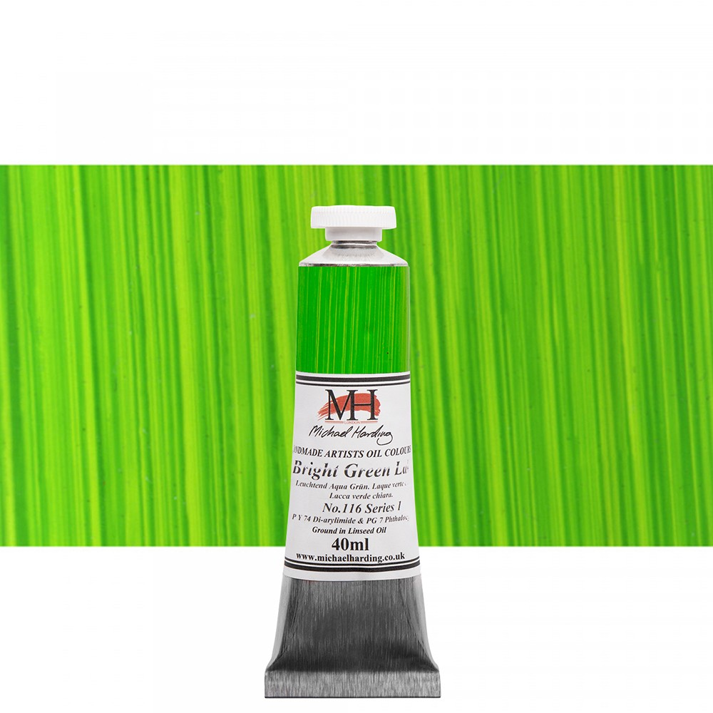 Michael Harding : Oil Paint : 40ml : Bright Green Lake