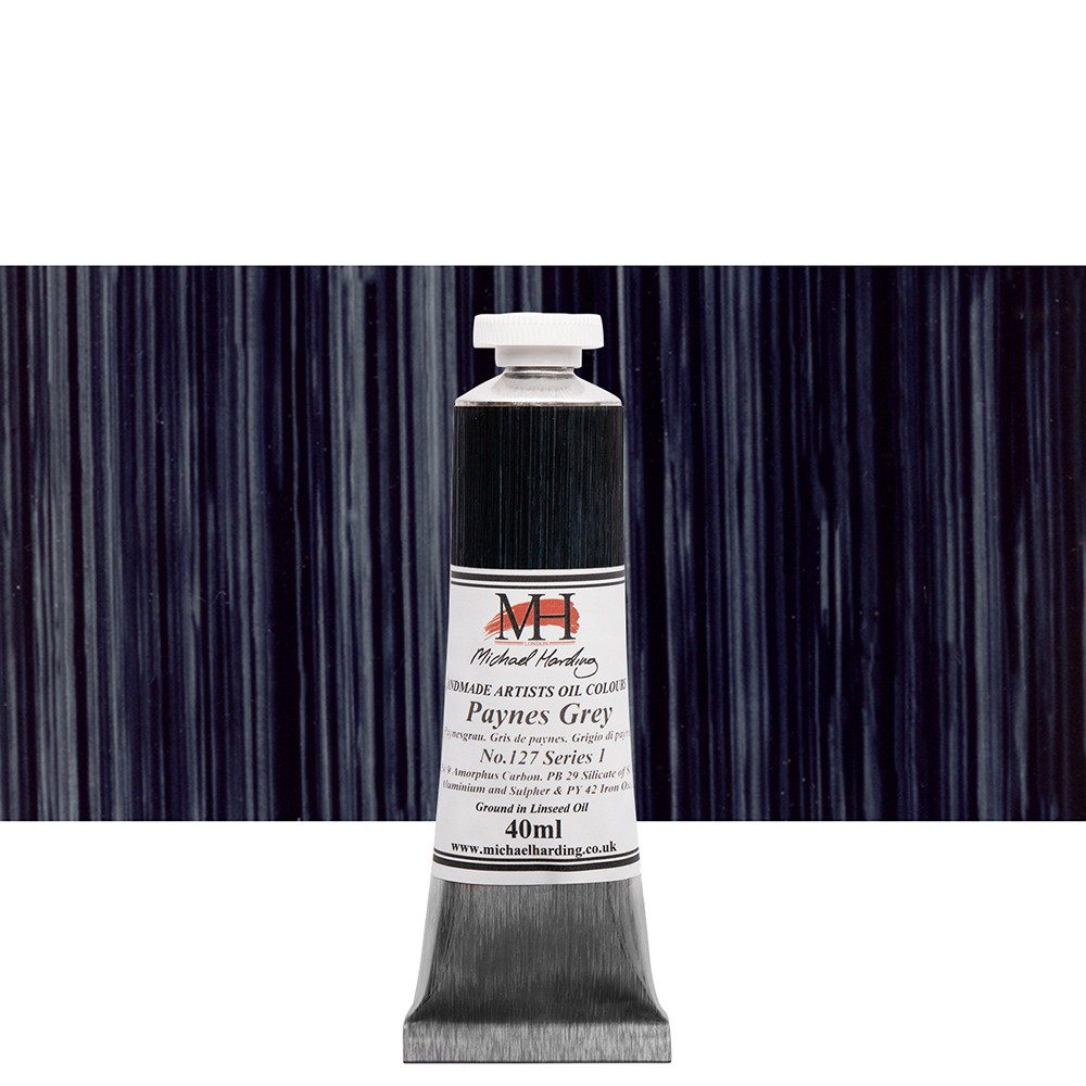 Michael Harding : Oil Paint : 40ml : Paynes Grey