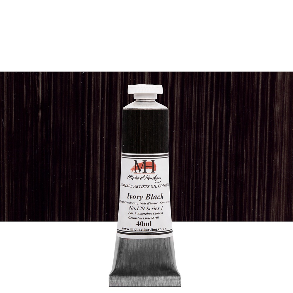 Michael Harding : Oil Paint : 40ml : Ivory Black