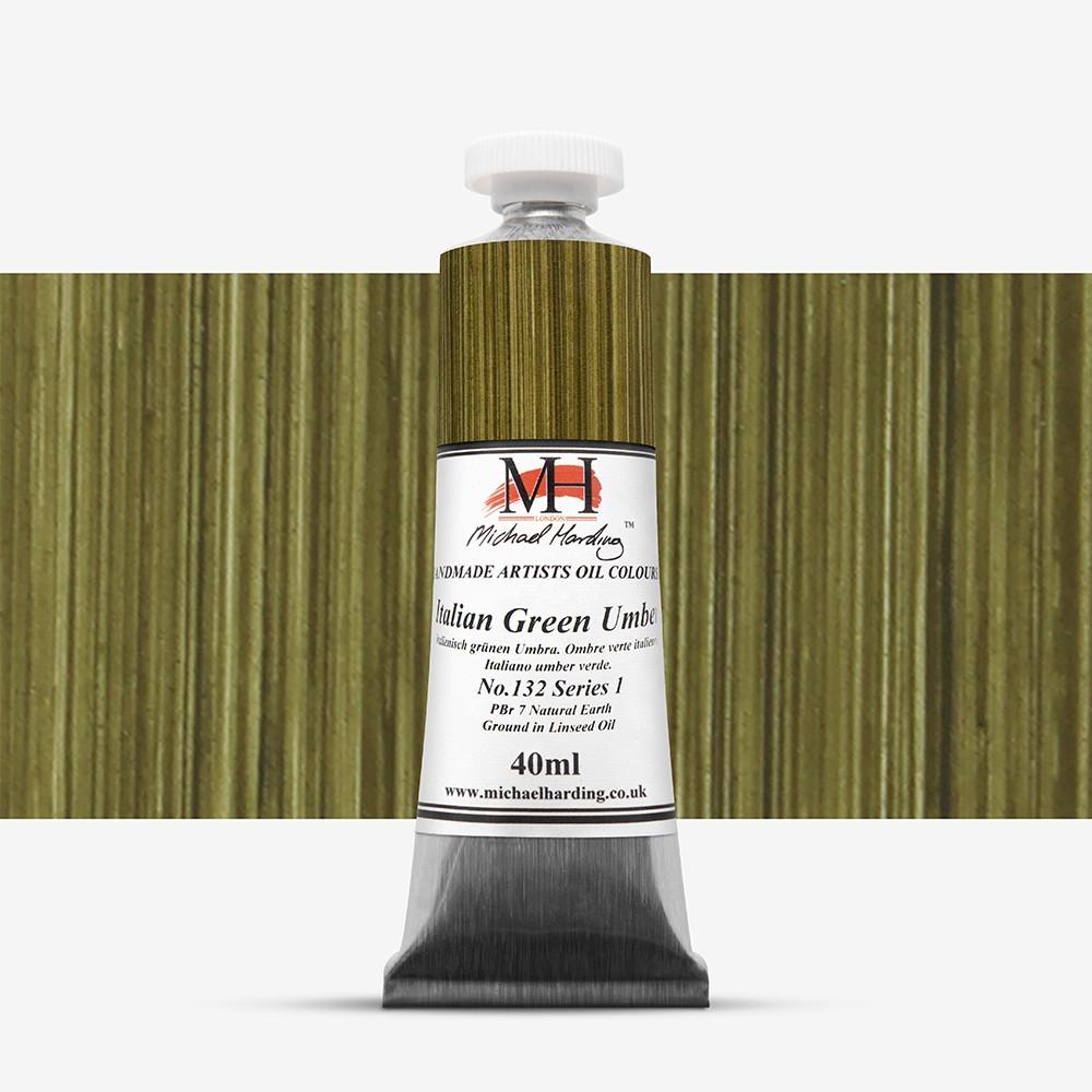 Michael Harding : Oil Paint : 40ml : Italian Green Umber
