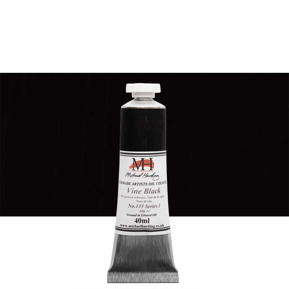 Michael Harding Oil Paint 40ml Vine Black Jackson