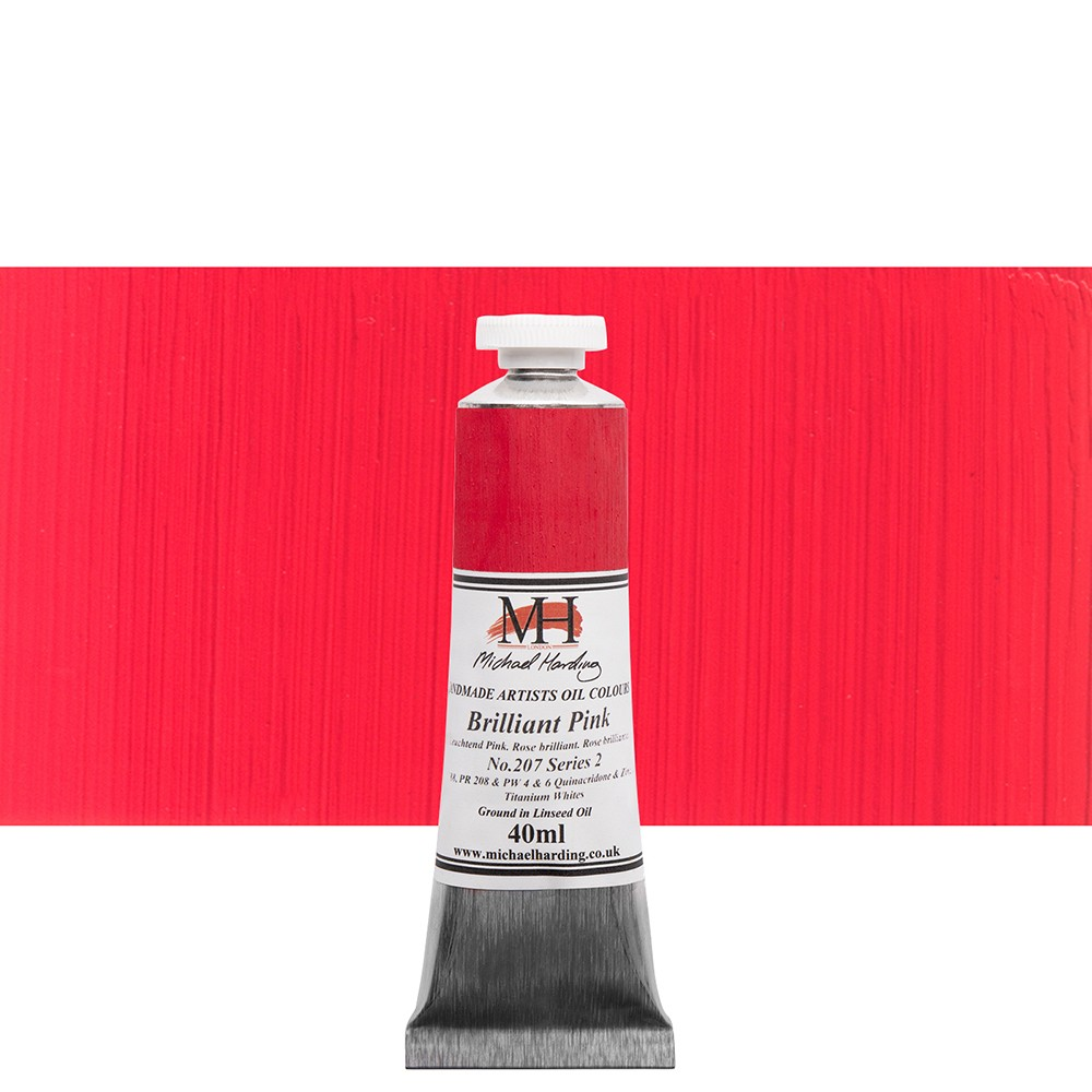 Michael Harding : Oil Paint : 40ml : Brilliant Pink