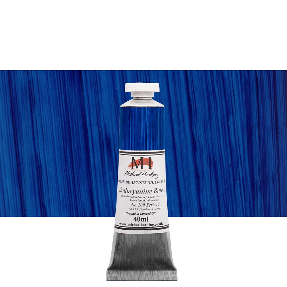 Michael Harding : Oil Paint : 40ml : Phthalocyanine Blue Lake