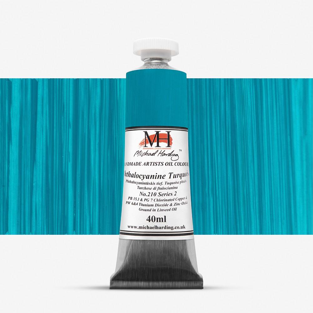 Michael Harding : Oil Paint : 40ml : Phthalocyanine Turquoise