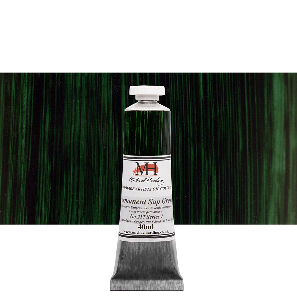 Michael Harding : Oil Colour : 40ml Permanent Sap Green