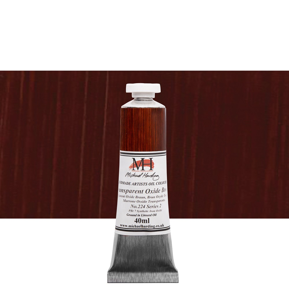 Michael Harding : Oil Paint : 40ml : Transparent Oxide Brown