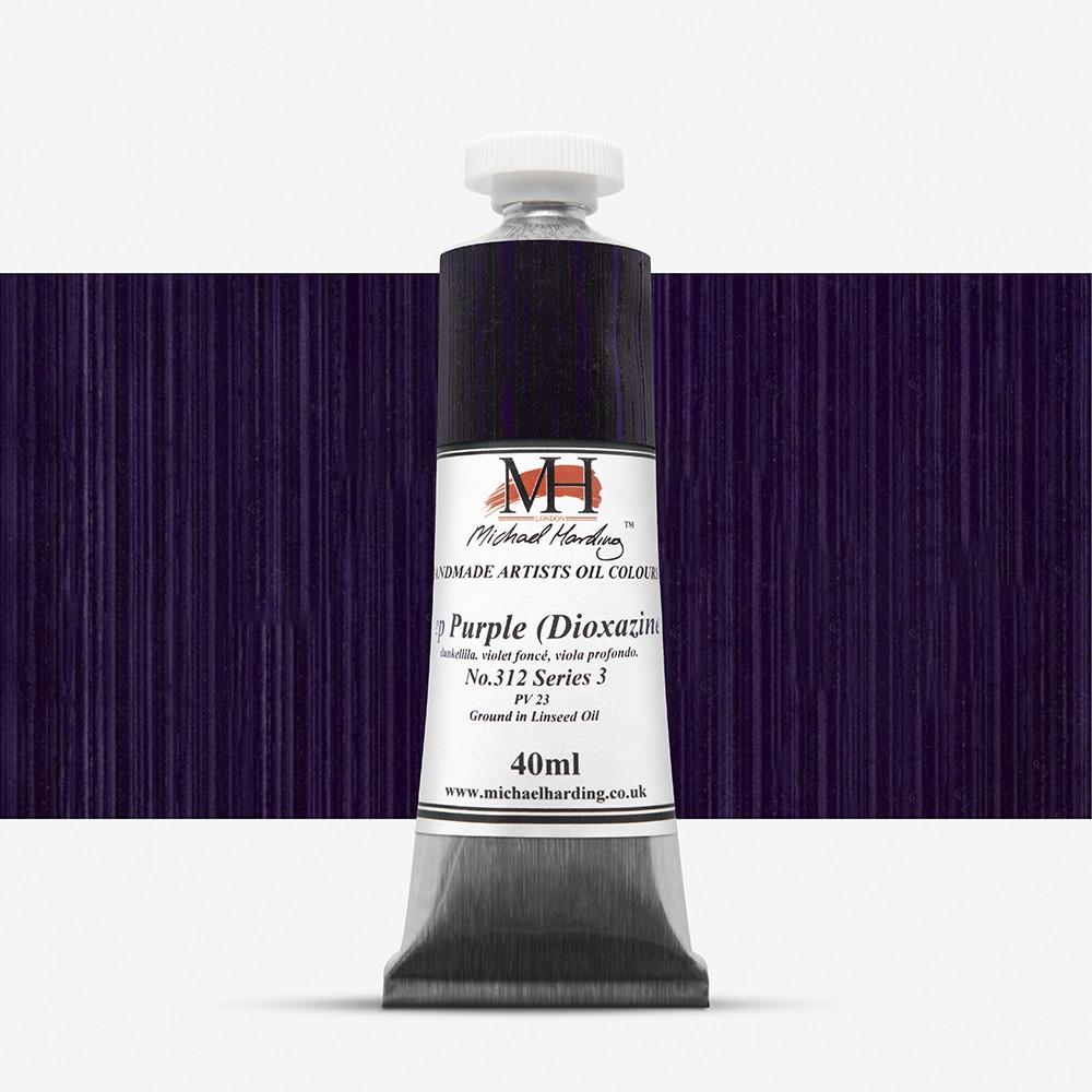 Michael Harding : Oil Paint : 40ml : Deep Purple (Dioxazine)
